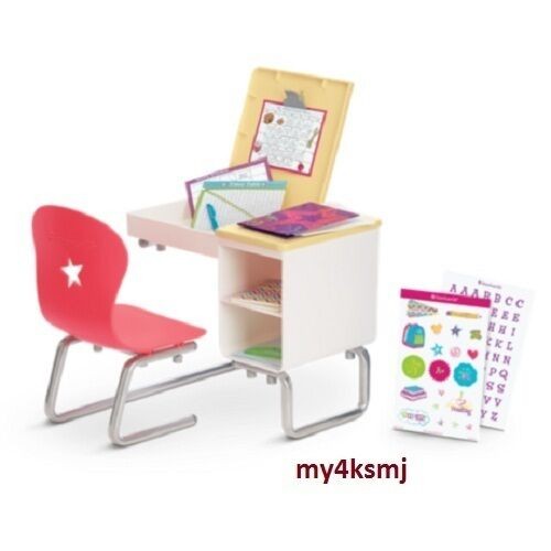 American School Desk Flip Top Set For Doll Lots Of Play Ships