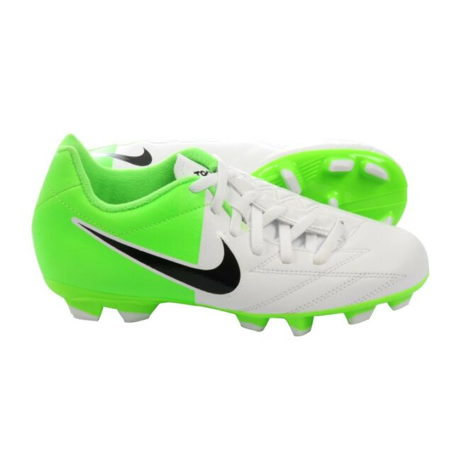 Nike Total 90 Shoot IV FG Euro 2012 Soccer Shoes White / Green Kids Youth