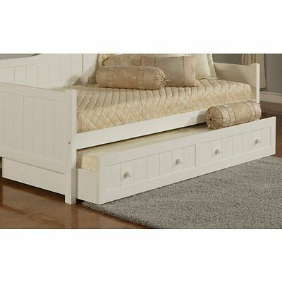 hillsdale furniture 1525 030 staci daybed trundle drawer in white finish new - Wood Frame Daybed