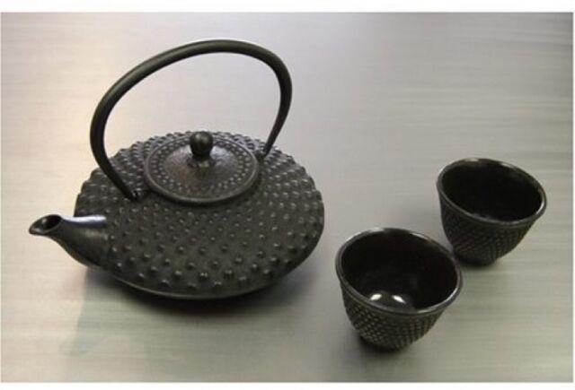 Japanese cast iron teapot 2 tea cups pot tetsubin black infuser strainer set ebay - Japanese teapot with strainer ...