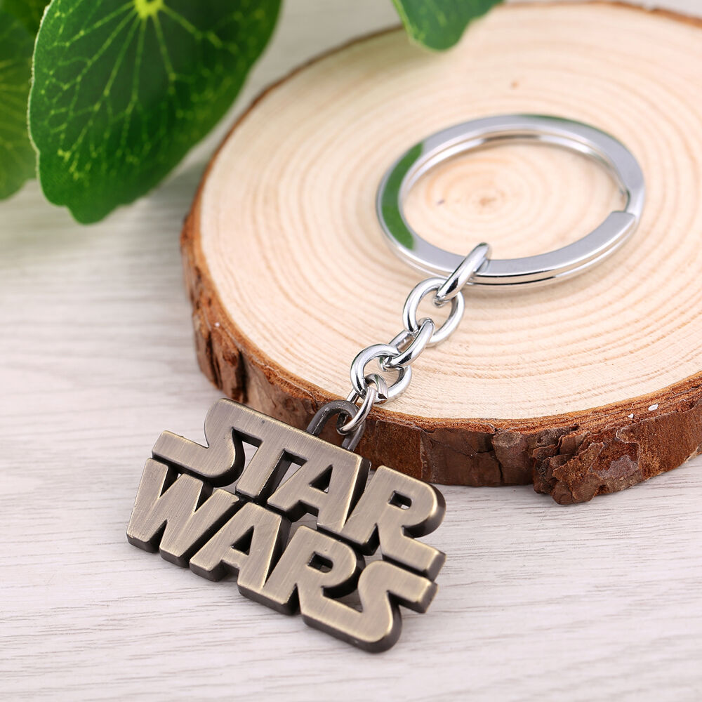 star wars logo full metal key chain keychain bronze collectible