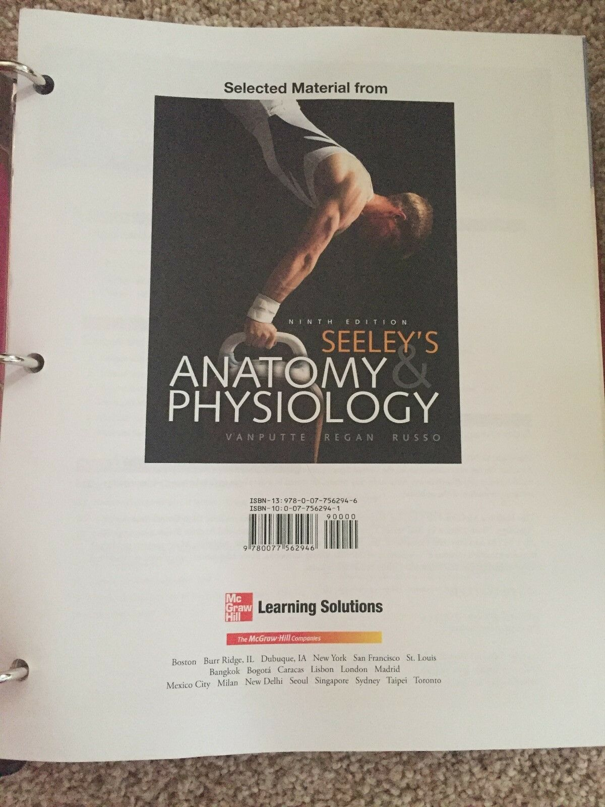 Asombroso Seeley Anatomy And Physiology 8th Edition Adorno ...