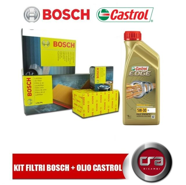 KIT DE MANTENIMIENTO ACEITE CASTROL BORDE LL 5W30 5LT 4 FILTROS BOSCH VW GOLF 5