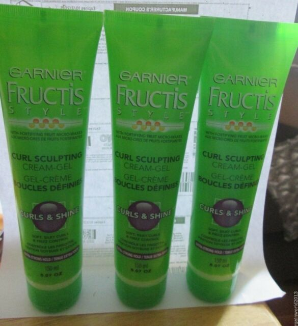 3 New Garnier Fructis Style Curl Sculpting Cream Gel Extra Strong Hold 5 07 Oz