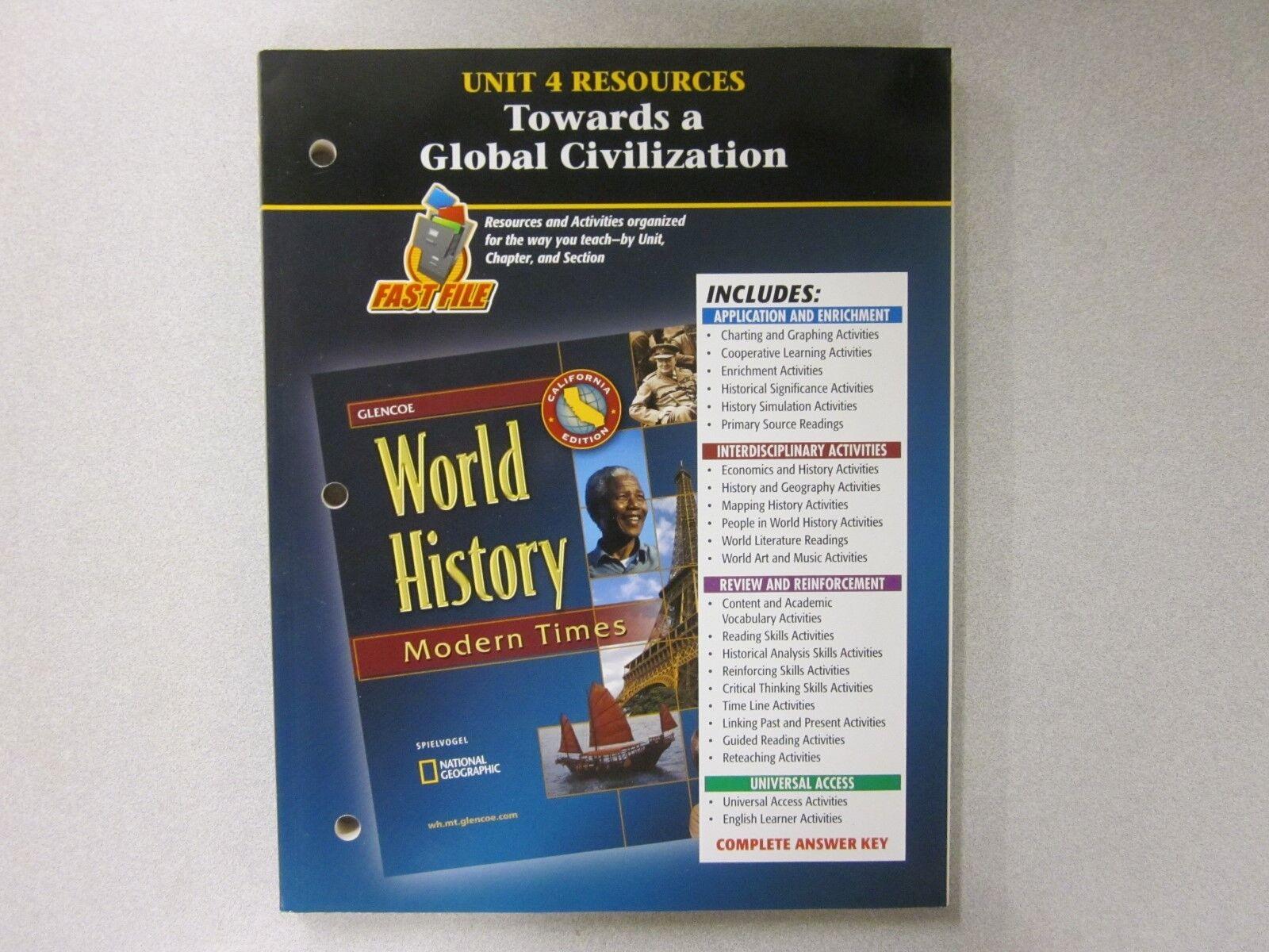 Glencoe world history books ebay glencoe world history modern times california unit 4 resources book 0078730821 fandeluxe Images