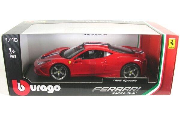 Ferrari 458 Speciale (rouge avec rayures)