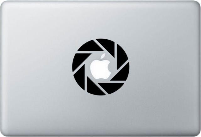Aperture mac apple logo cover laptop vinyl decal sticker macbook camera portal