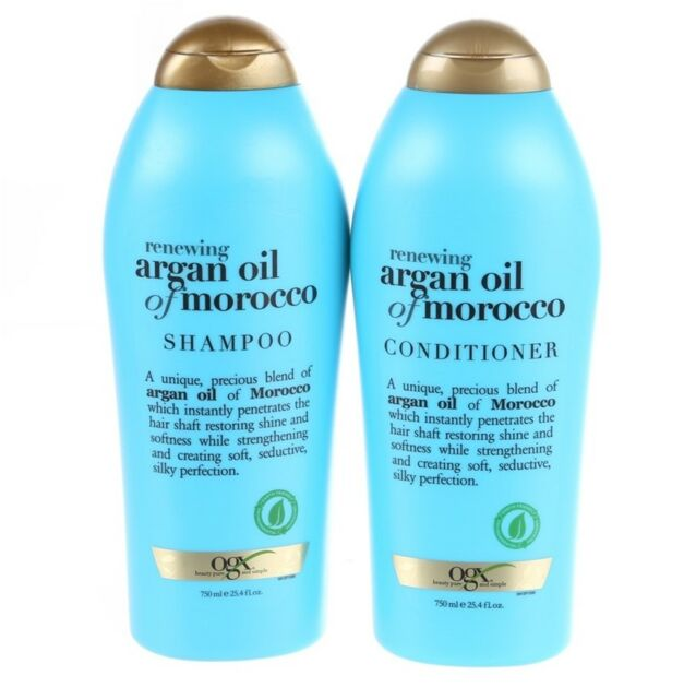 NEW OGX Genuine Argan Oil of Morocco Shampoo 750mL + Conditioner 750mL EXP POST!