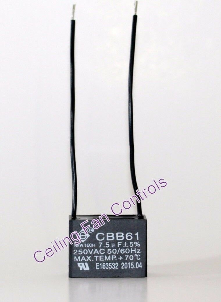 Ceiling Fan Capacitor Cbb61 7.5uf 250v 2 Wire | eBay