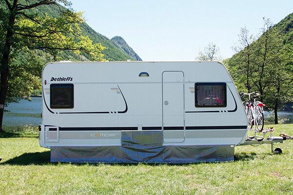 Fiamma Caravan Awning Skirt 45m Grey