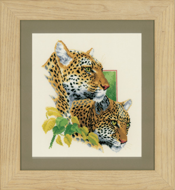Vervaco Leopard Duo Cross Stitch Kit