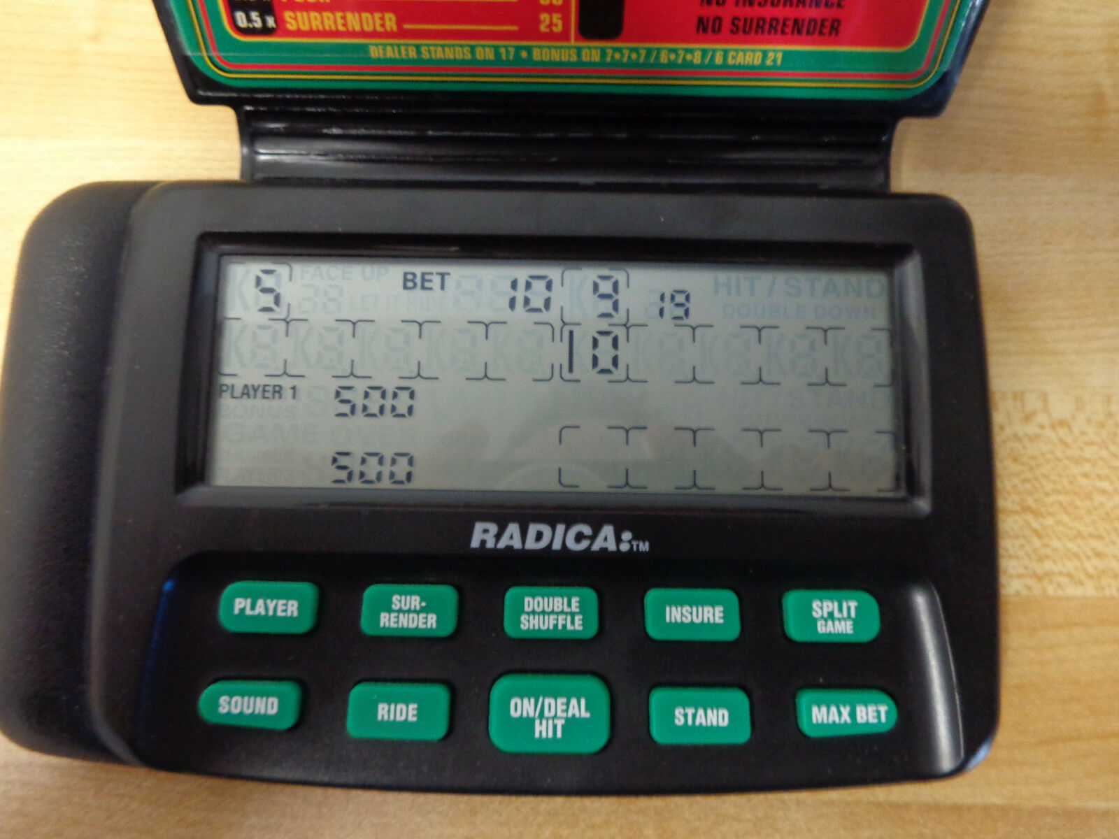 Radica Blackjack 21 Instructions Handheld Electronic Game 2355 Ebay