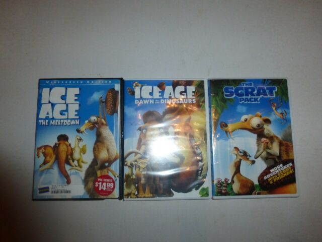 Ice Age 3: Dawn of the Dinosaurs/The Scrat Pack& The Meltdown DVD,3 Disc Set 256