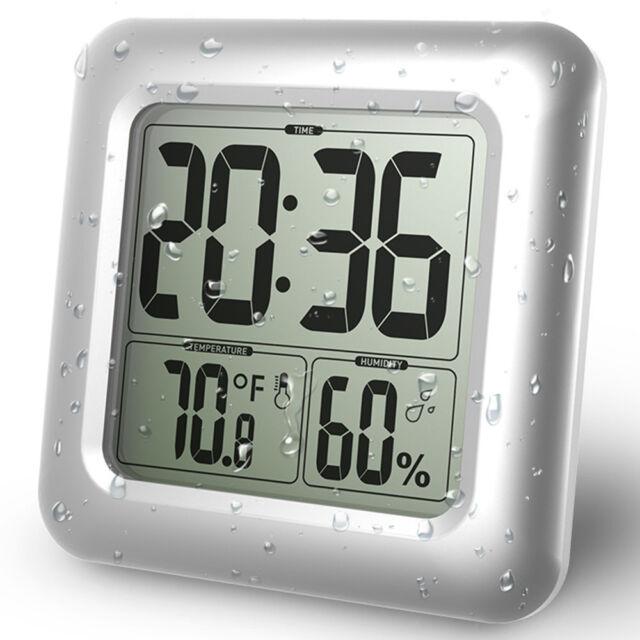 Humidity U0026 Temp Suction Cup Waterproof Shower Bathroom LCD Digital ...