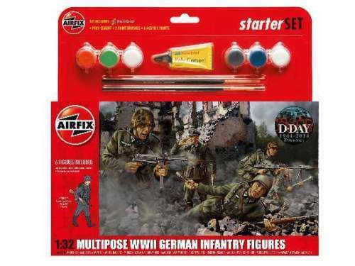 Airfix Multipose WWII German Infantry Figures Figuren 1:32 Art. A55210 Bausatz