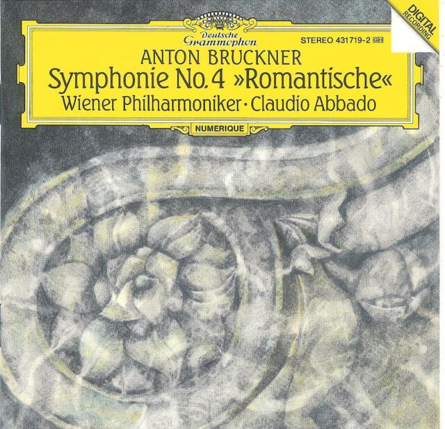 BRUCKNER - Symphonie No. 4 , Wiener Philharmoniker, Abbado / 1991 DGG Digital CD
