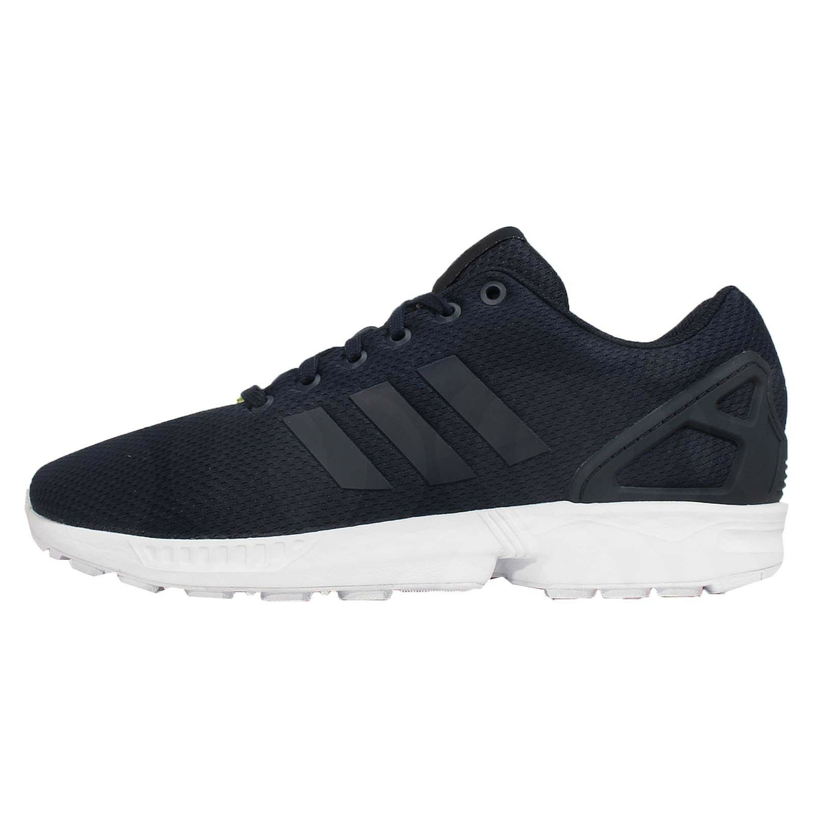 Adidas Originals ZX Flux Navy White Mens Running Shoes Sneakers M19841