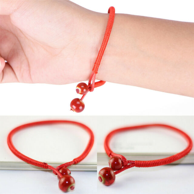 red necklace hamsa with bracelet shop string