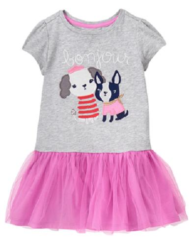 2aa4580594a7a Gymboree Baby Girl 18-24 Months Eiffel Flowers Paris Dress with Tutu Skirt  NEW