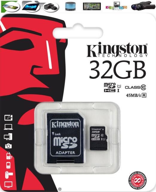 32GB Kingston Scheda di memoria Micro SD PER SAMSUNG GALAXY S2 S3 S4