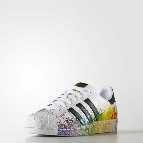 Adidas Originals Men's Superstar Pride Pack Shoes Size 5 us  D70351 Last Pair