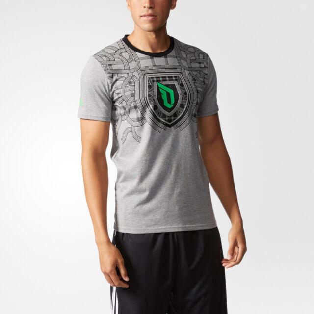 nwt~Adidas DAME FLY TEE Graphic-jersey T Shirt DAMIAN LILLARD Logo Top~