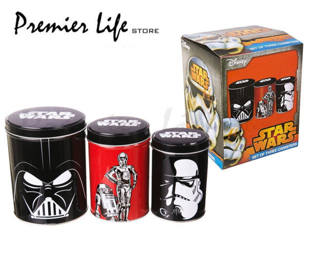 Star Wars Tin Canisters - Star Wars Set of 3 Canisters