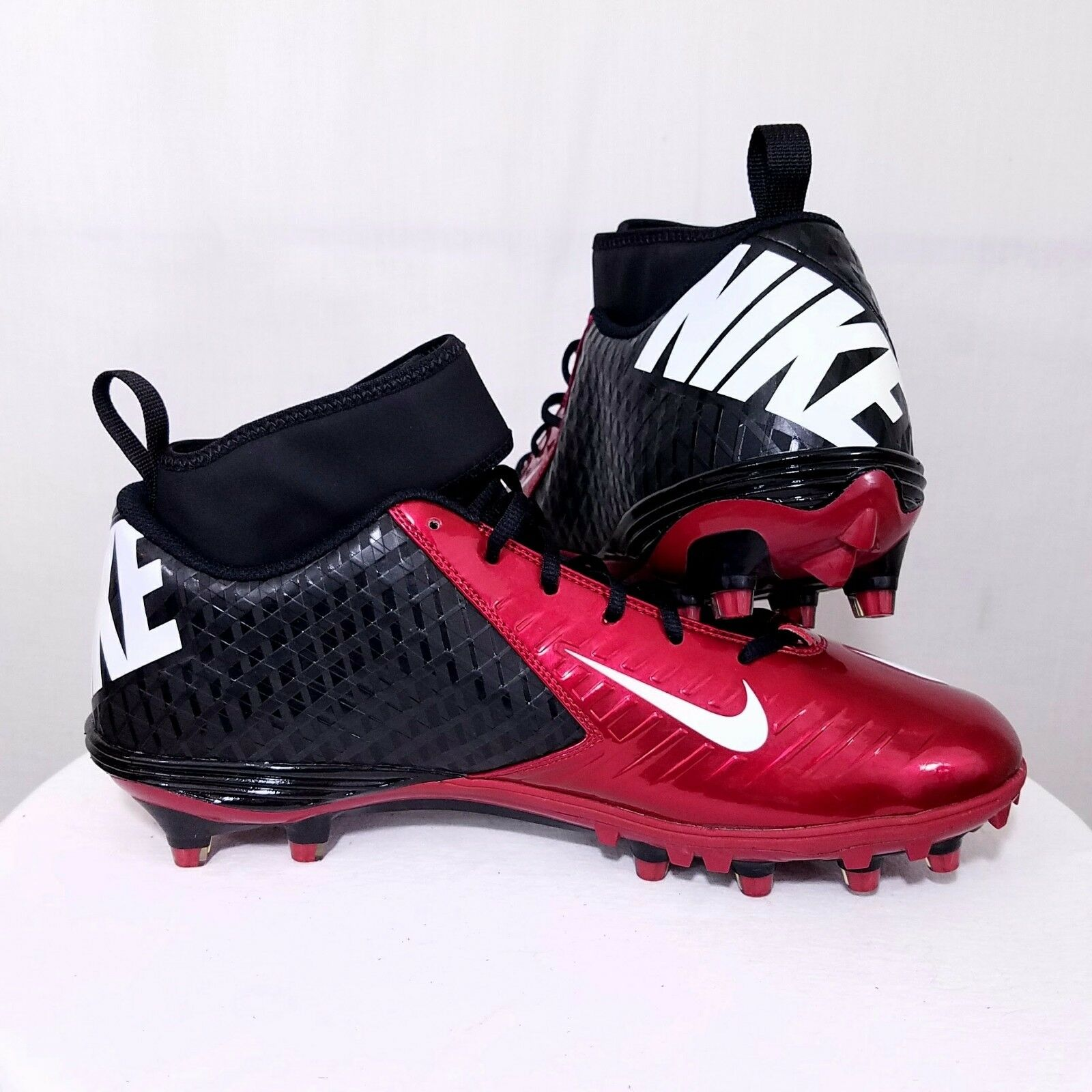 Noir Noir Noir nike high top basketball Chaussures nike Rouge and Noir football cleats 9901b3