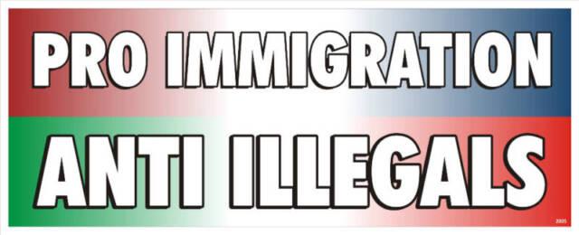 Anti illegal immigraton political bumper sticker 4042