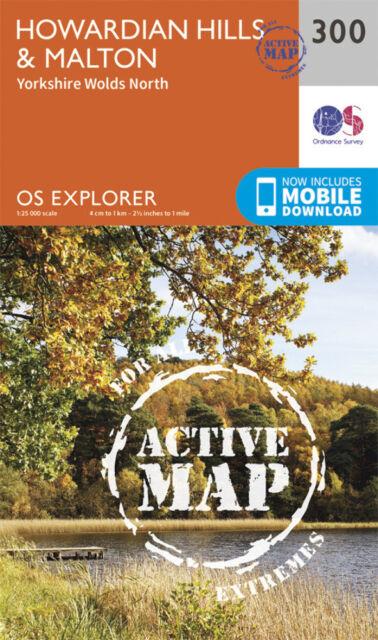Howardian Hills and Malton Explorer Map LAMINATED ACTIVE Map 300 Ordnance Survey
