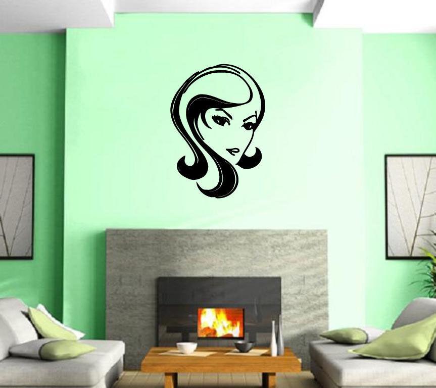 Hot Girl Woman Face Hair Spa Beauty Salon Wall Art Decor Vinyl ...