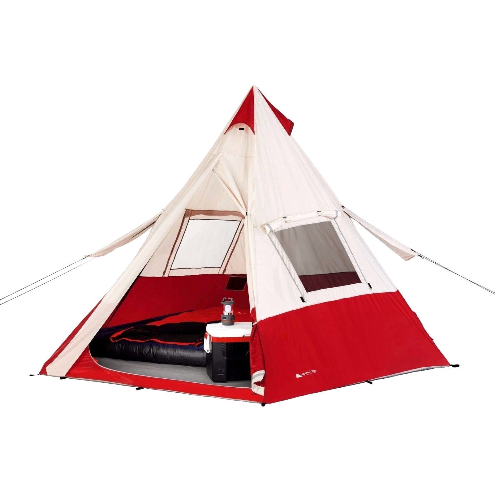 Ozark Trail 7 Person Teepee Tent W  sc 1 st  eBay & Portable Teepee Tent Ozark Trail 7 People Easy Set up Camping ...