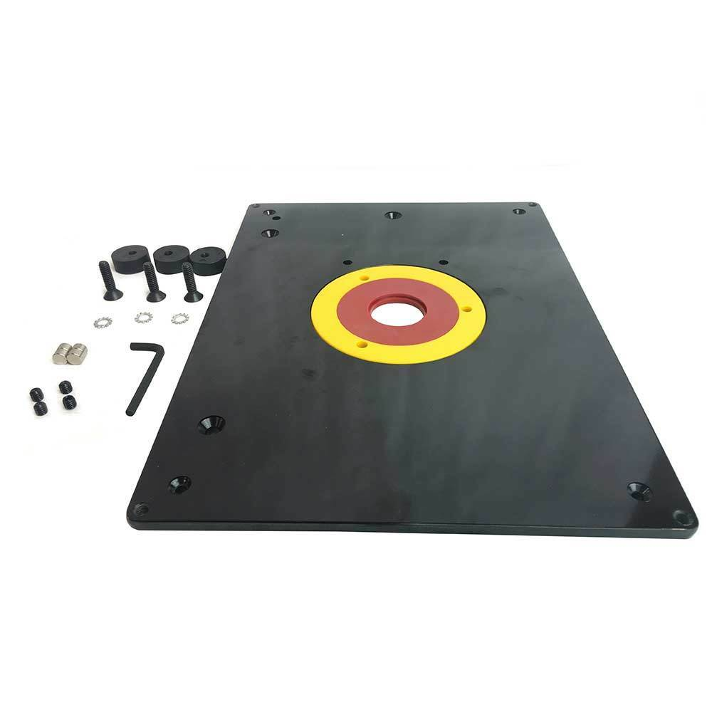 Router table ebay big horn 18101 9 inch x 12 router table insert plate w guide pin snap ring greentooth Choice Image