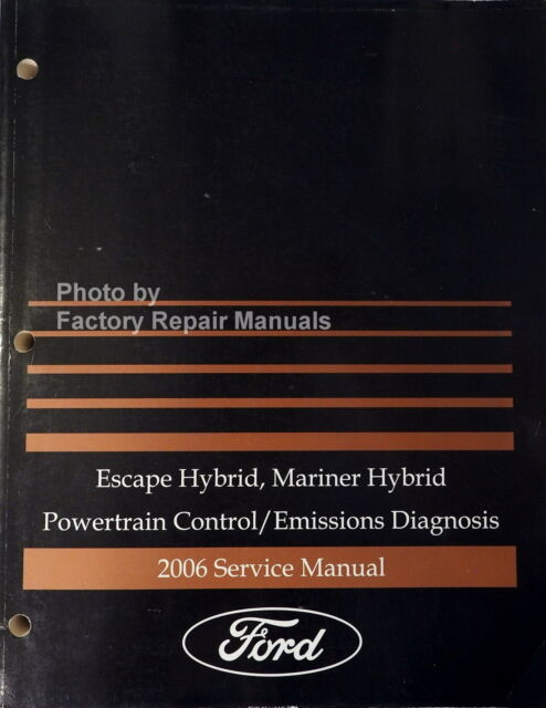 2006 Ford Troubleshooting Service Manual Powertrain Escape Mariner ...