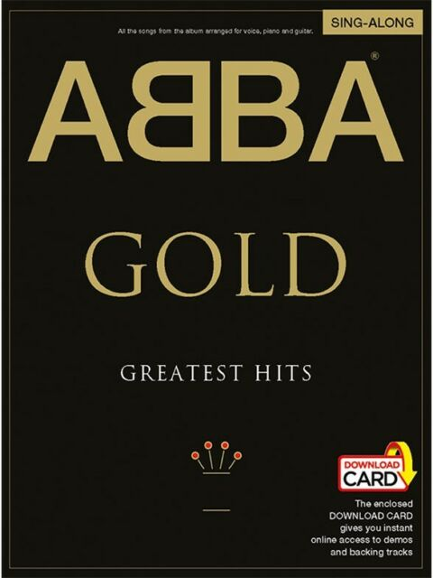 ABBA Gold Sing-Along Edition For Piano, Vocal & Guitar (Book & Download Card)