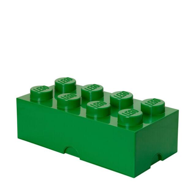 Room Copenhagen LEGO® Storage Aufbewahrungsbox Brick 8 grün       grün 50 x 25 c