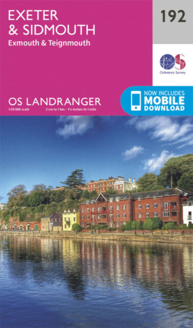 Exeter & Sidmouth Exmouth & Teignmouth Landranger Map 192 Odnance Survey 2016