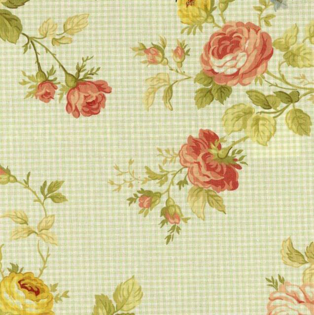Waverly SEASIDE ROSE SAGE Green 667932 Floral Home Decor Sewing Drapery  Fabric