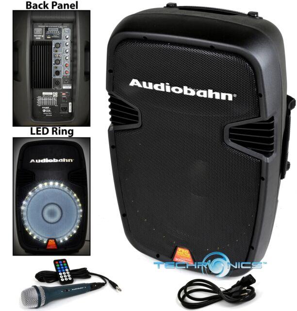 Audiobahn Torq 15-Inch Powered 2600-Watt Pro DJ Bluetooth USB LED ...