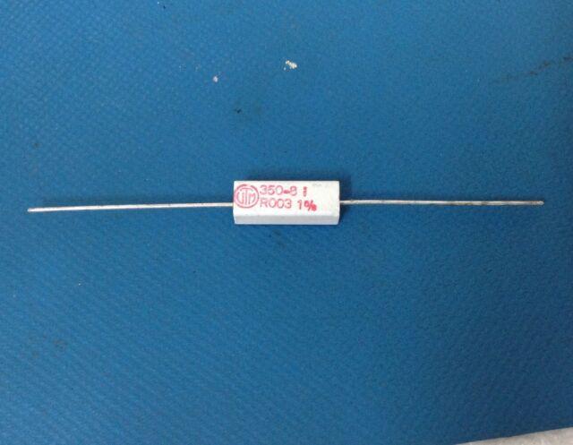 25x Vitrohm Ceramic Wirewound Resistor 4w R003 Ohm 1 Kn350-81b0r003 ...
