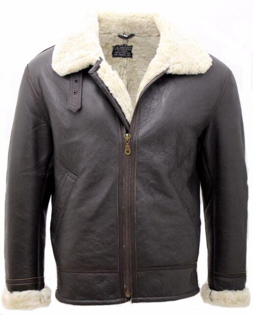 c326830194a Men S Cream B3 Shearling Sheepskin World War 2 Er Leather Flying. Aviator  ...