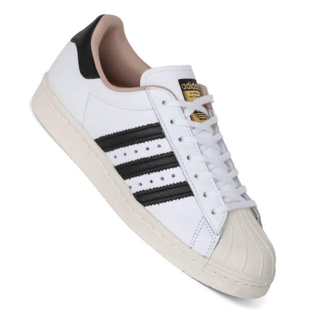 ADIDAS ORIGINALS SUPERSTAR anni '80 Sneaker Scarpe da ginnastica PELLE II NUOVO