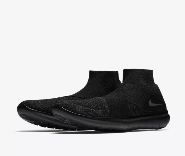Nike $150 Free RN Motion Flyknit Black/Gray Shoes (880845 003) - Sizes