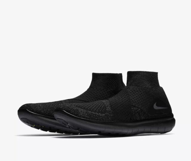 Nike $150 Free RN Motion Flyknit Black/Gray Shoes (880845 003) - Sizes
