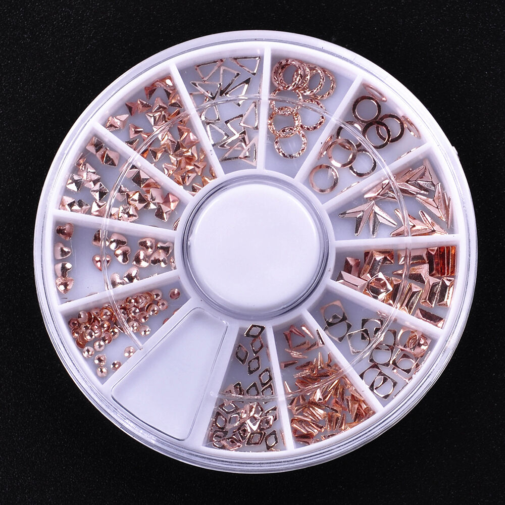 12 shapes metal 3d rivet nail art decorations studs nails picture 11 of 11 prinsesfo Images