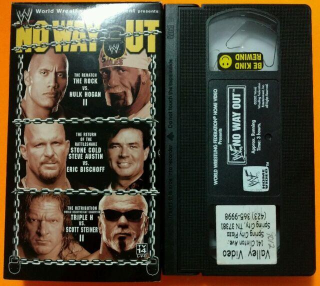 WWE/WWE - No Way Out 2003 VHS WCW/nWo ECW DX