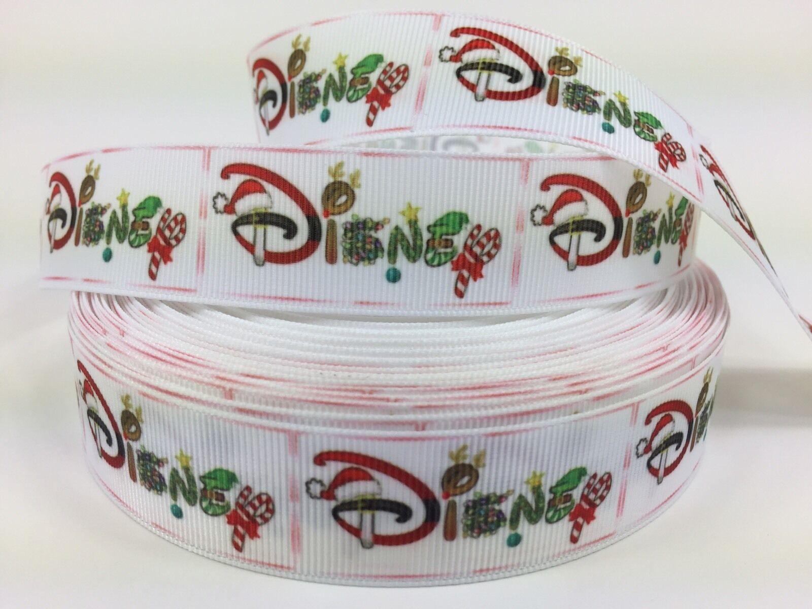 BTY 1 Inch Disney Christmas Word Grosgrain Ribbon Hair Bows ...