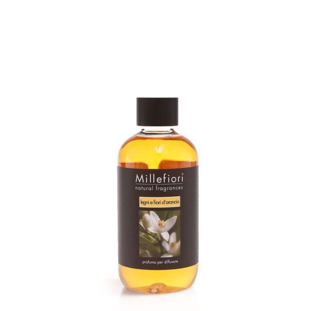 MILLEFIORI Natural Raumduft Diffuser Nachfüllflasche 250 ml LEGNI E FIORI D'ARAN