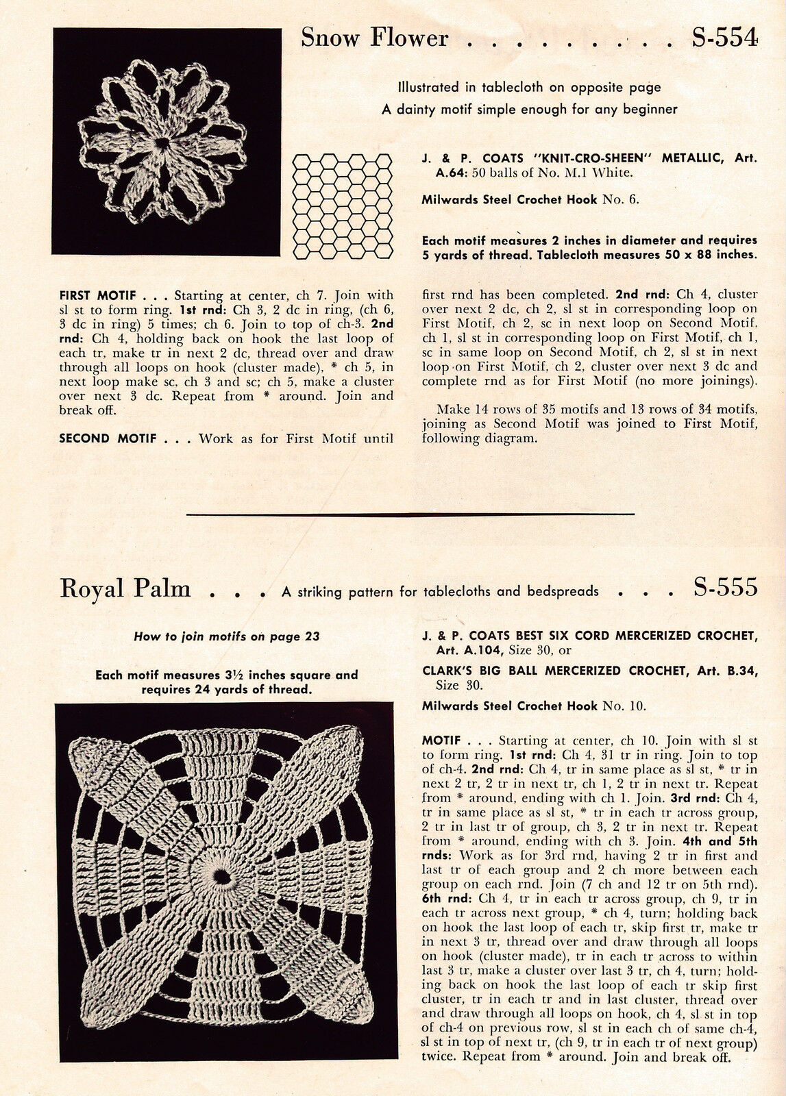 Vtg Crochet Patterns Home Decor Decorator Fabrics Motifs Pillow Rug 1954  VTNS | eBay