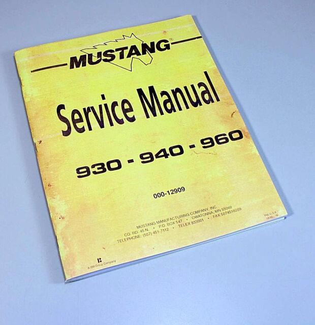 Mustang 930a Parts Manual